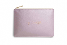 Katie Loxton HEY BEAUTIFUL Perfect Pouch Clutch Bag - Metallic Pink